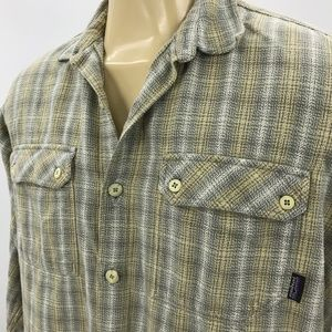 Mens Patagonia Organic Cotton Casual Shirt Flannel